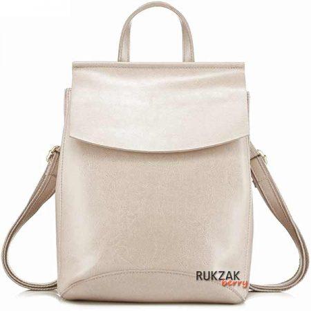 кремовый кожаный рюкзак
