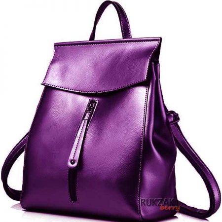 фиолетовый кожаный рюкзак