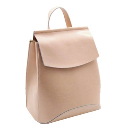 бежевый кожаный рюкзак