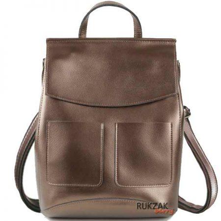 золотой кожаный рюкзак