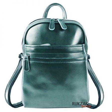 изумрудный кожаный рюкзак