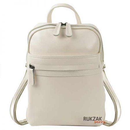 светлый кожаный рюкзак