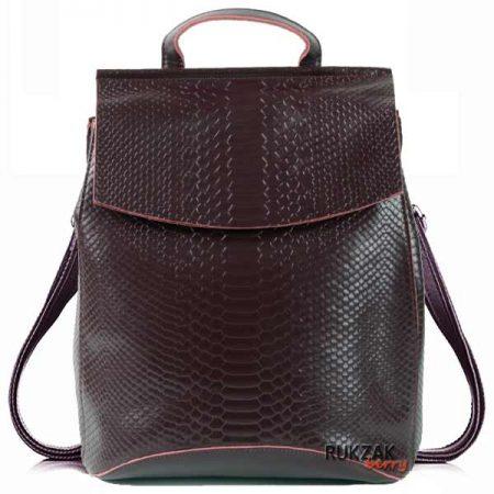 коричневый женский рюкзак кожа