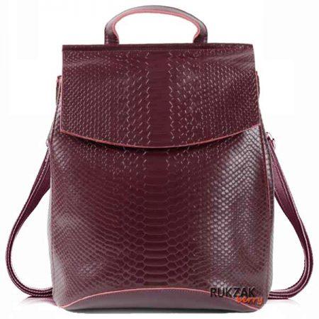 бордовый кожаный рюкзак