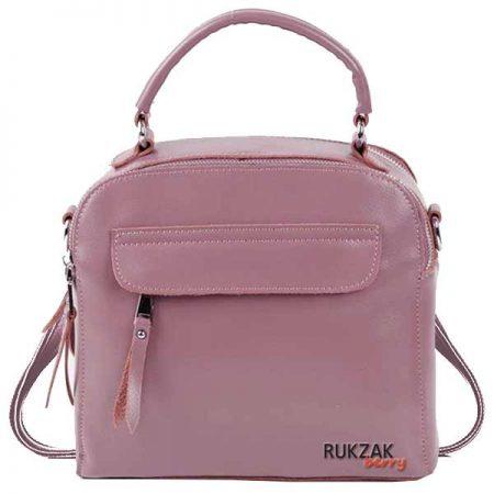 сумка рюкзак розовая