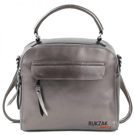 сумка рюкзак серебро