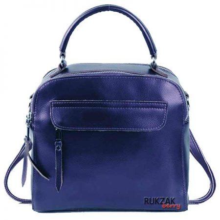 сумка рюкзак синяя металлик