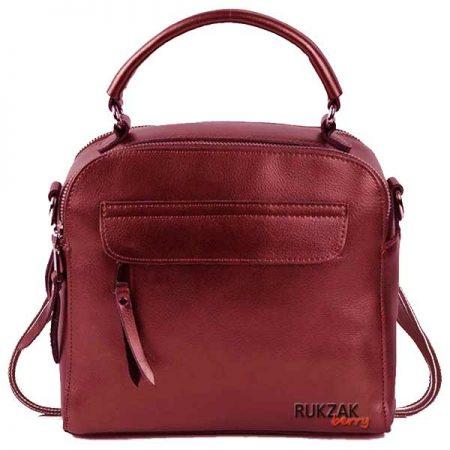 сумка рюкзак красная