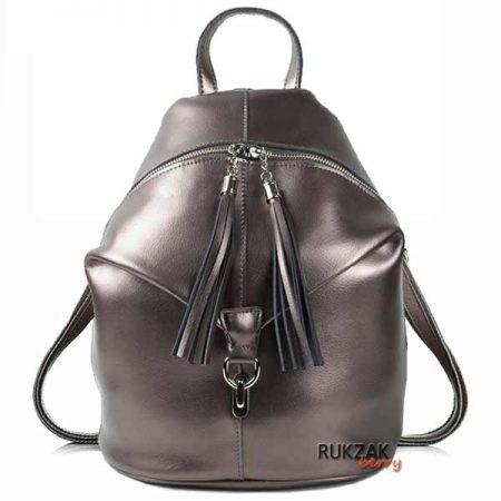 рюкзак кожаный бронза