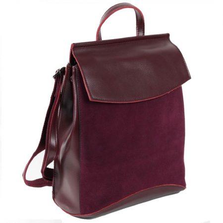 фото рюкзак кожаный женский замшевый трансформер Классика