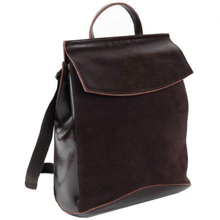 коричневый рюкзак замша