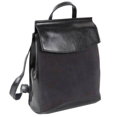 серый рюкзак замша