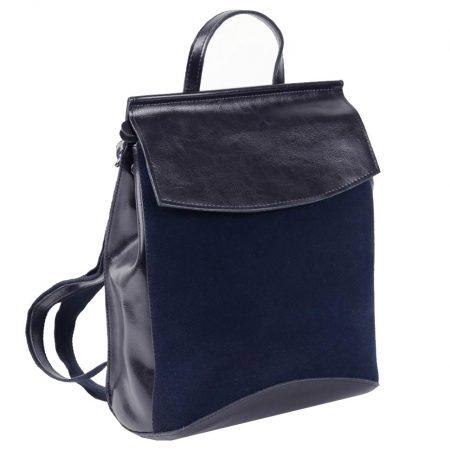синий замшевый рюкзак