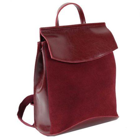 замшевый бордовый рюкзак