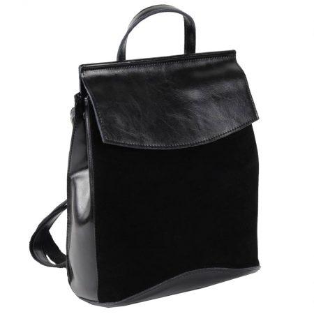 черный замшевый рюкзак