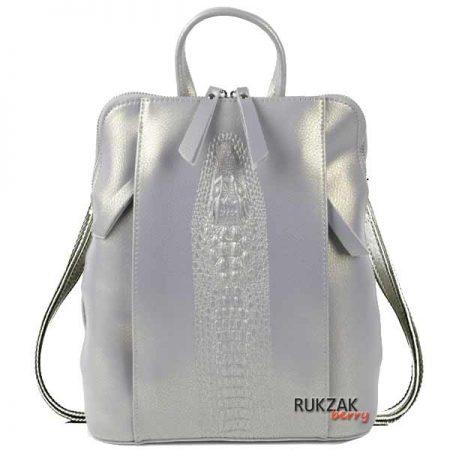 перламутровый кожаный рюкзак