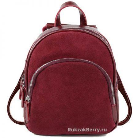 красный замшевый рюкзак