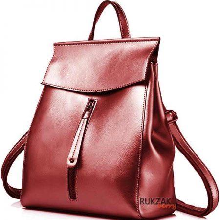 красный рюкзак металлик