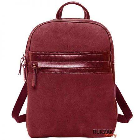 бордовый замшевый рюкзак