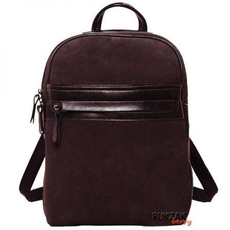 коричневый замшевый рюкзак