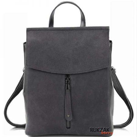 серый замшевый рюкзак