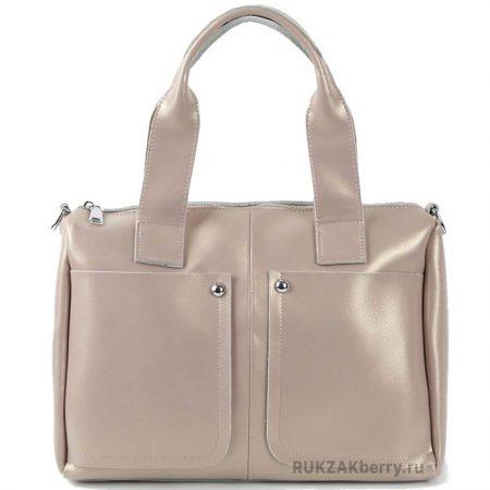 фото модная сумка кожаная бежевая средняя Кейт