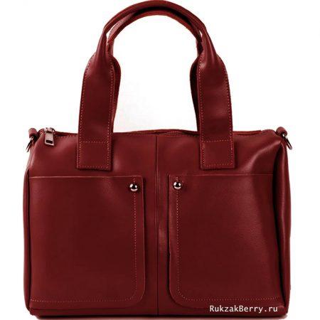 фото модная сумка кожаная красная Кейт