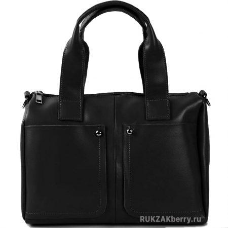фото модная сумка кожаная черная средняя Кейт