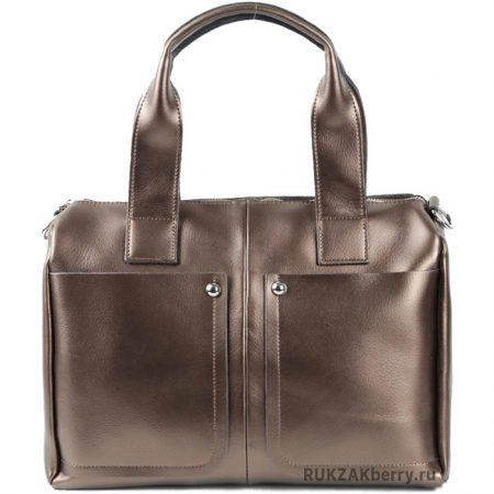 фото модная сумка кожаная золотая средняя Кейт