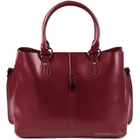 фото модная сумка кожаная красная тоут средняя Мэри