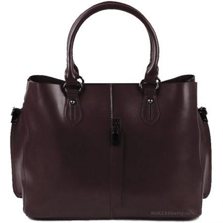фото модная сумка кожаная коричневая тоут средняя Мэри