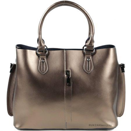 фото модная сумка кожаная золотая тоут средняя Мэри