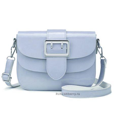 фото модная сумка кожаная голубая Лола