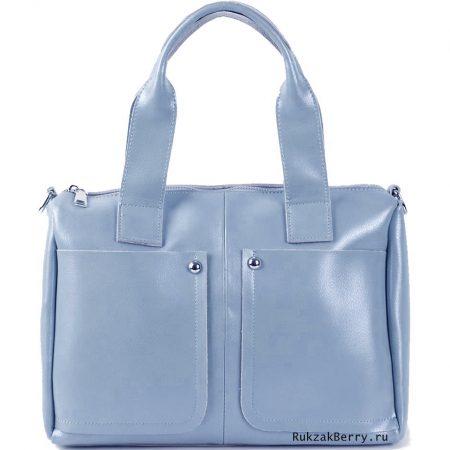фото модная сумка кожаная голубая Кейт