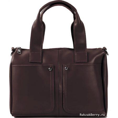 фото модная сумка кожаная коричневая Кейт