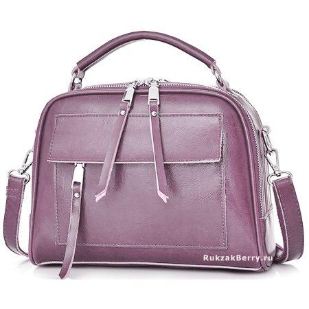 фото модная сумка кожаная фиолетовая Дана