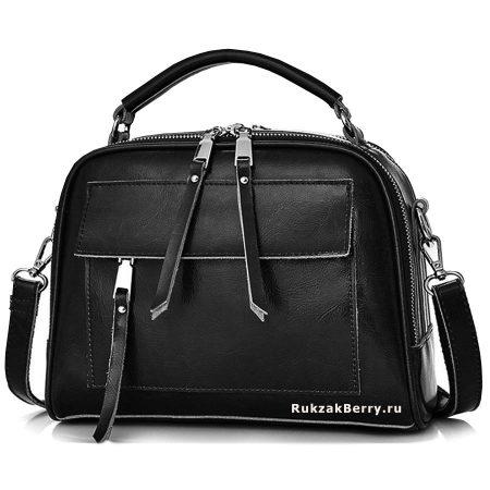 фото модная сумка кожаная черная Дана