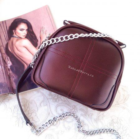 фото модная сумка кожаная фиолетовая Эльза