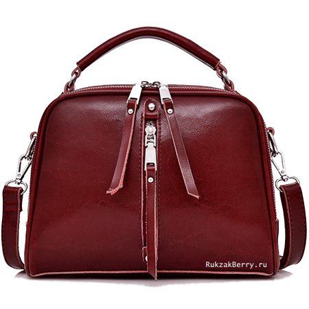фото модная сумка кожаная красная Дана