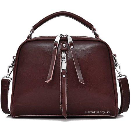 фото модная сумка кожаная коричневая Дана