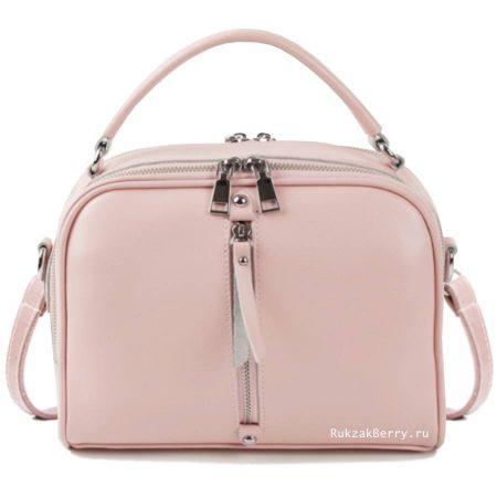 фото модная сумка кожаная розовая пудра Дана