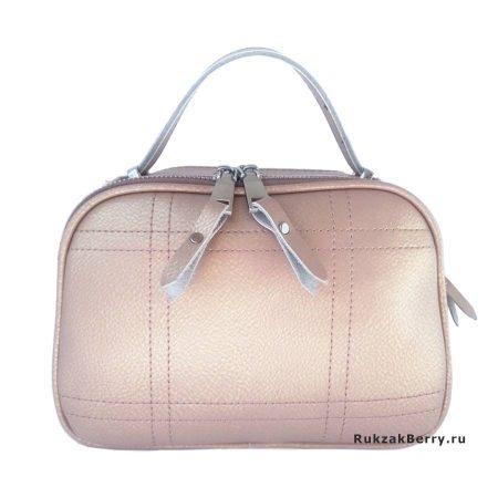 фото модная сумка кожаная бежевая Дина