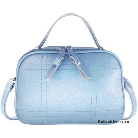 фото модная сумка кожаная голубая Дина