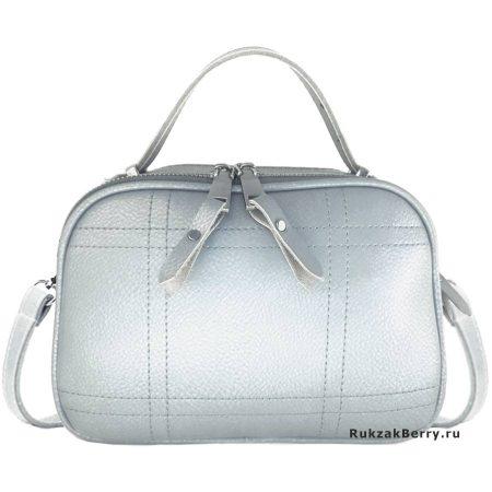 фото модная сумка кожаная серая Дина