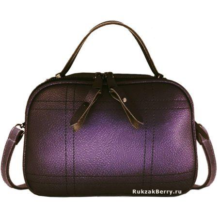 фото модная сумка кожаная фиолетовая Дина