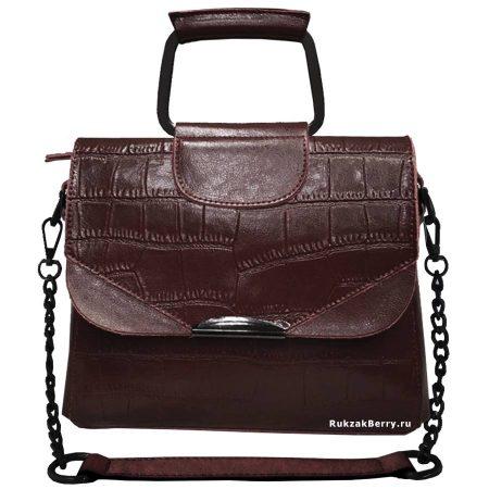 фото модная сумка кожаная коричневая Сэльма
