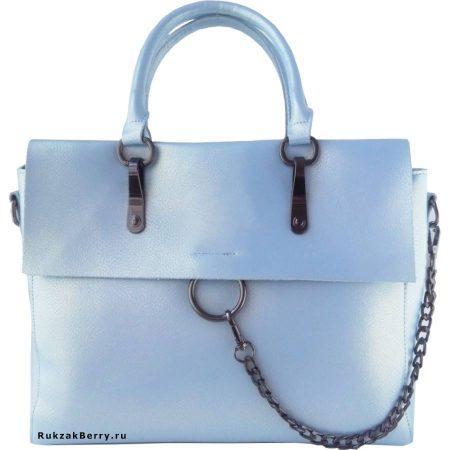 фото модная сумка кожаная голубая Лойя