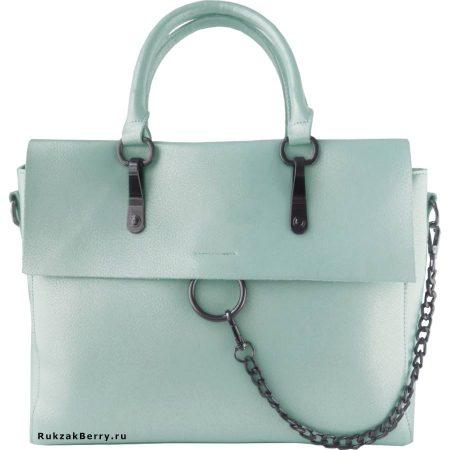 фото модная сумка кожаная мятная Лойя