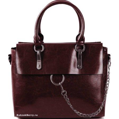 фото модная сумка кожаная коричневая Лойя