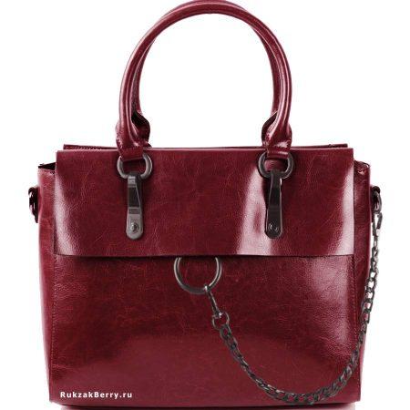 фото модная сумка кожаная бордовая Лойя